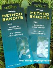Drennan Method Bandits - Pair Of Carp Feeder - Banded Hair Rigs