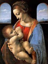 Madonna and Child Leonardo da Vinci Tile Mural Kitchen Backsplash Marble Ceramic