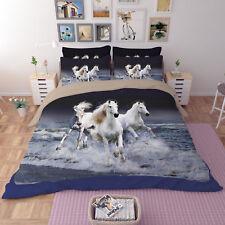 3D Angel Horse 588 Bed Pillowcases Quilt Duvet Cover Set Single Queen King CA