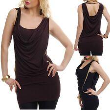 Sexy Miss Damen Double Long Shirt gold flecht Band Look 34/36/38 Freesize TOP