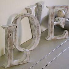 Shabby chic lettres fait main en bois de BALI Mangue 15 cm sort de votre propre nom