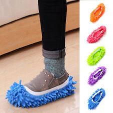 Mocio Pantofole Pavimento Piede Calzini Scarpe Veloce Lucidante Polvere Pulizia