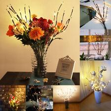 20 geführt Weide Zweig Warmes Weiß Lichterkette 30-inch Weihnachtsparty