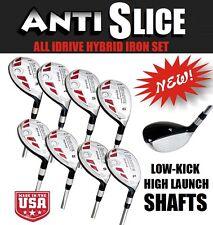 Anti-Slice Oversize All Hybrid Graphite 3-4-5-6-7-8-9-PW Iron Wood Senior Set