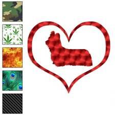 Heart Skye Terrier Dog Love Decal Sticker Choose Pattern + Size #1518