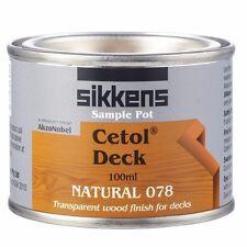 Sikkens CETOL DECK Transparent Wood Finish, Oil Based, NATURAL 078 – 100ml Or 1L