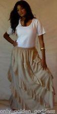 off beige  skirt long diagonal OS 1X 2X 3X 4X 5X 6X  plus ruffles asym