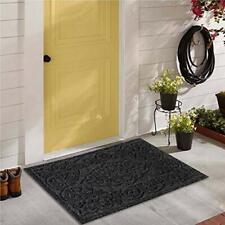 LuxUrux Durable Rubber Door Mat, Heavy Duty Doormat, Indoor Outdoor Rug