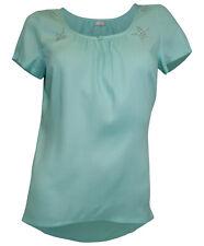 Cheer Mujer Túnica Blusa Remaches Estrellas Camiseta Manga Corta Menta 752313