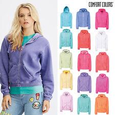 Comfort Colors Women's Full Zip Hooded Sweatshirt - Authentic Winter Jacket