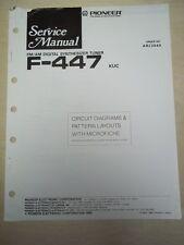 Pioneer Service Manual~F-447 Tuner~Original~Repair