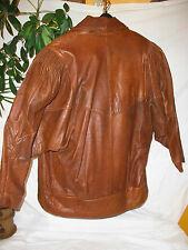 beau BLOUSON jacket/VESTE T-S CUIR / LEATHER  SUPER-look MIXTE vintage