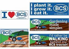 BCS Tiller Weather Proof Nylon Bumper Sticker Best Tiller on Earth