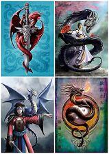 Anne Stokes Fantasy Artwork Eastern Promise Oriental Dragon Blank Greeting Card