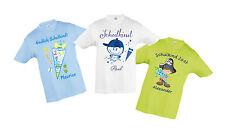 REGRESO Camiseta con nombre y motivo alumno Bolsa Escolar CHUCHES para niños