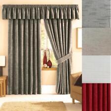 Stamford luxe chenille entièrement double rideaux à plis plat ~ beaucoup de couleurs/tailles