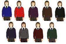 Boys School Uniform Premium Wool Mix Knitted V Neck Jumper/Pullover Schoolwear