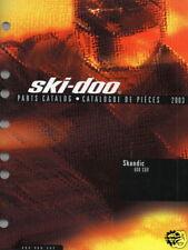 2003 SKI-DOO SNOWMOBILE SKANDIC 600 SUV PARTS MANUAL