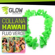 COLLANA HAWAII FLUO VERDE collana hawaii hawaiana party fluo luminosi festa love
