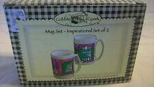 COBBLE CREEK SET OF 2 INSPIRATIONAL COFFEE MUGS, BNIB
