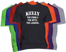 KELLY Last Name T Shirt Custom Name T Shirt Family Reunion Family Name Tee