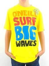 O'Neill T-Shirt camiseta camisa manga corta amarillo texto Cuello Redondo