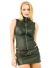 Minifalda de cuero sintético Christina - negro, talla 8+