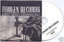 BROKEN RECORDS Until The Earth Begins To Part UK 2-trk promo test CD 4AD