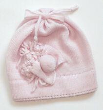 Catya 326532 Mütze Baby 3D Blumen Merino Wolle Rosa Winter Gr.IV-VI 9-18 M Neu