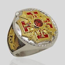 Masonic 33rd Degree Freemason Ring 18k Gold Pld Knights Templar Size by UNIQABLE