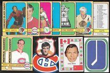 1972-73 OPC O PEE CHEE NHL WHA PLAYER CREST TEAM CANADA & LOGO 111-341 SEE LIST