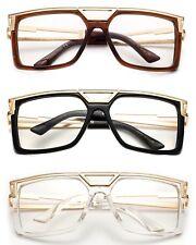 Run DMC Clear Lens Eye Glasses HiP Hop Rapper Retro Large Oversized Clear Lens