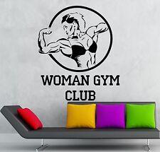 Woman Gym Club Vinyl Decal Sport Bodybuilding Fitness Wall Stickers (ig2318)