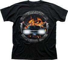 SUPERNATURAL WInchester Bros IMPALA Sam Dean black printed t-shirt 9613
