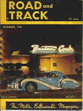 Road & Track 1951 Dec aston martin alfa romeo mercedes