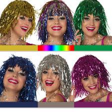 Lamettaperücke, div. Farben, volle Folienperücke für Karneval/Fasching und JGA!