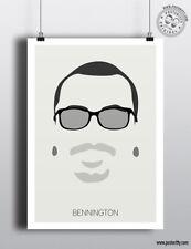 Chester Bennington (Linkin Park) - Minimalist Poster Silhouette Head Minimal Art