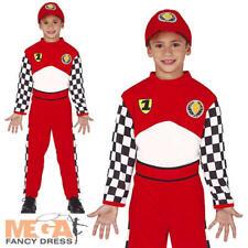 Formula 1 Driver Kids Fancy Dress F1 Race Car Uniform Kids Sports Costume Outfit