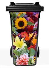 "Mülltonnenaufkleber ""Blumen""  Aufkleber Mülltonne M6"