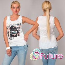 Camiseta Mujer Top Floral Estampado Casual 100% Algodón Túnica de tamaños 8A 12