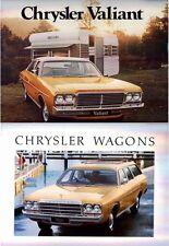 Two 1977 CHRYSLER CL VALIANT Australian Brochures Sedans & Wagons