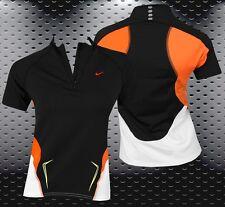 Nike Damen Laufshirt Fitness Shirt Running Shirt Sport Traningsshirt Top schwarz