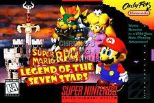 RGC Huge Poster - Super Mario RPG Super Nintendo SNES BOX ART - MAR011