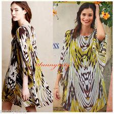 NEW 10 Anthropologie Sarita Swing Dress By Leifsdottir, Silk 100% 5 Star Review
