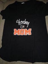 NHL WOMENS PHILADELPHIA FLYERS MATERNITY TEE SHIRT SMALL BLACK