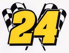 JEFF GORDON #24 Decal racing nascar Flag 4 x 5