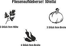 Wandaufkleber Fliesenaufkleber- 10er Set Küchenaufkleber Kräuter  -Artikel 526