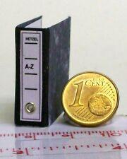 """2305# Miniatur Aktenordner mit Inhalt """"A-Z""""- Puppenhaus - Puppenstube - M1zu12"""