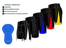 NUOVO uomo qualità Pantaloncini imbottiti per ciclismo anti-batterico