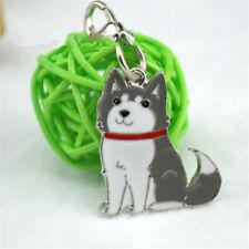 Cute Animal Pet Dog Key Chains Husky The Poodle Boxer Bulldog Pendant Keyrings